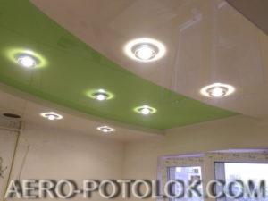 двухуровневый натяжной потолок фото 1