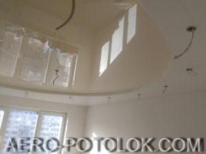 двухуровневый натяжной потолок фото 2