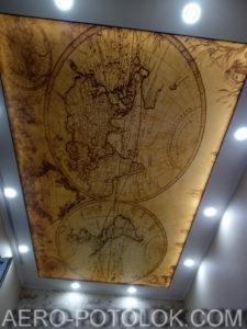 натяжной потолок с фотопечатью фото 4