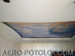 натяжной потолок с фотопечатью фото 1