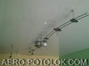 глянцевый потолок фото работ 2