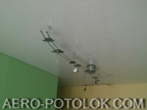 глянцевый потолок фото работ 4