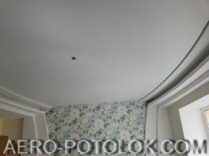 матовый потолок фото работ