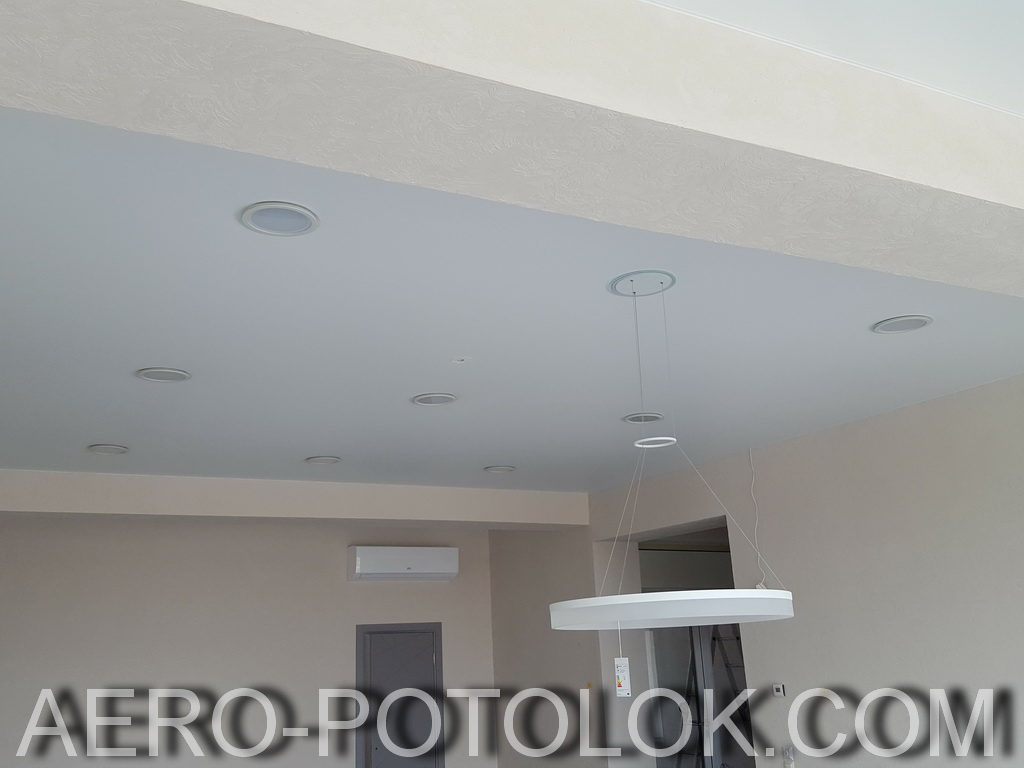матовый потолок фото 1
