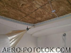 монтаж натяжного потолка фото работ 4