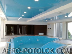 натяжной потолок в бассейн фото 2