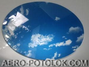 фото потолок небеса с фотопечатью