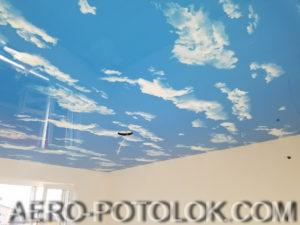 фото натяжные потолки небеса