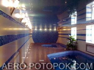 потолок в бассейн фото